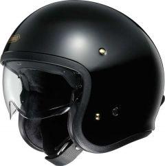 Shoei J.O. Open Face Helmet   Black